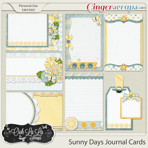 Sunny Days Journal and Pocket Scrapbooking Cards