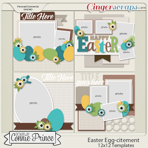 Easter Egg-citement - 12x12 Templates (CU Ok)