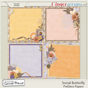 Social Butterfly - PreDeco Papers