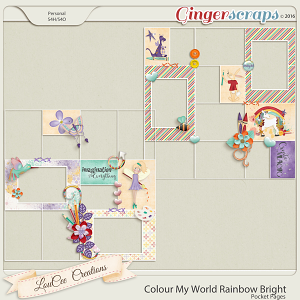 Colour My World Rainbow Bright Pocket Pages