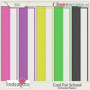 Cool For School Embossed Papers by Lindsay Jane