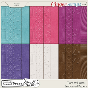 Tweet Love - Embossed Papers