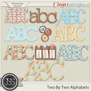 Two By Two Alphabets