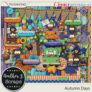 Autumn Days KIT by Heather Z Scraps