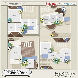 Song Of Spring - 12x12 Templates (CU Ok)