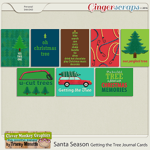 Santa Season Getting the Tree Journal Cards by Clever Monkey Graphics