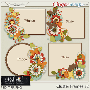 Cluster Frames Layered Templates Pack No 2