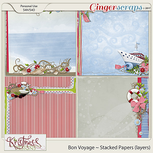 Bon Voyage Stacked Papers (layers)