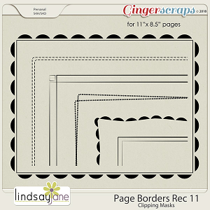 Page Borders Rec 11 by Lindsay Jane
