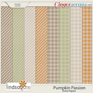 Pumpkin Passion Extra Papers by Lindsay Jane