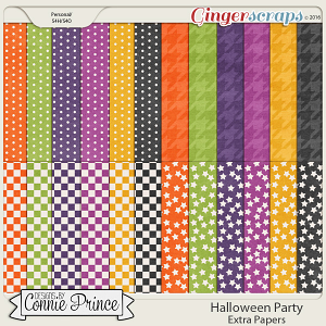 Halloween Party - Extra Papers