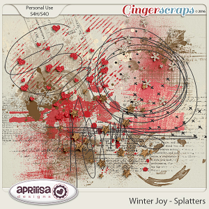Winter Joy - Splatters by Aprilisa Designs.