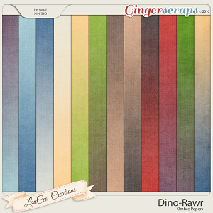 Dino Rawr Ombre Papers