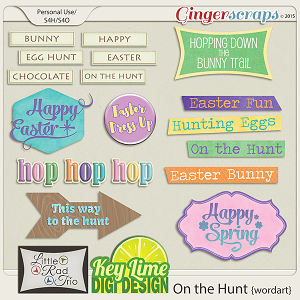 On the Hunt Word Art Pack