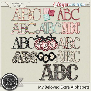 My Beloved Extra Alphabets Pack