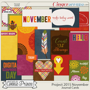 Project 2015 November - Journal Cards