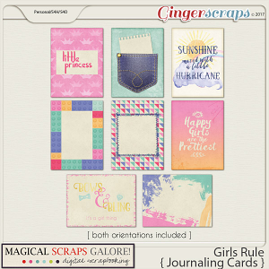 Girls Rule (journal cards)