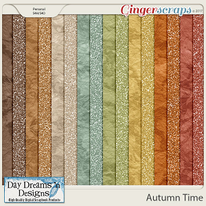 Autumn Time {Glitter Papers} by Day Dreams 'n Designs