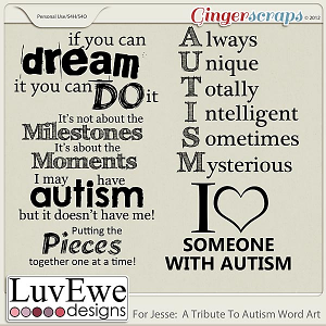 For Jesse: A Tribute To Autism Word Art