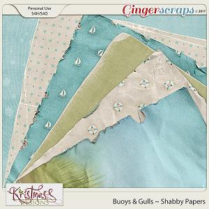 Buoys & Gulls Shabby Papers