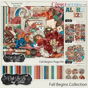 Fall Begins Digital Scrapbooking Collection