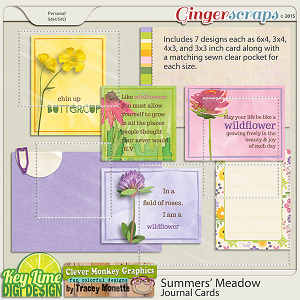 Summers' Meadow Journal Cards by Clever Monkey Graphics & Key Lime Digi Design