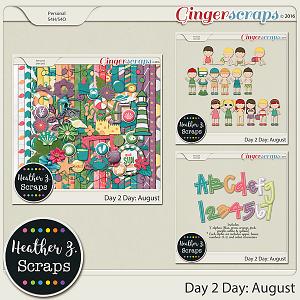 Day 2 Day: August BUNDLE by Heather Z Scraps