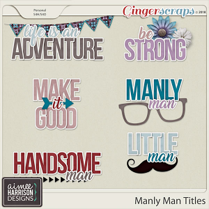 Manly Man Word Art Titles by Aimee Harrison