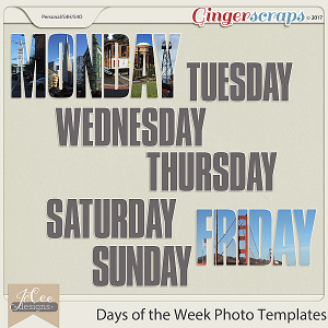 Days of the Week Photo Templates by JoCee Designs