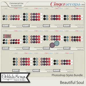 Beautiful Soul CU Photoshop Styles Bundle