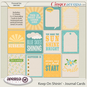 Keep On Shinin' Journal Cards by Aprilisa Designs