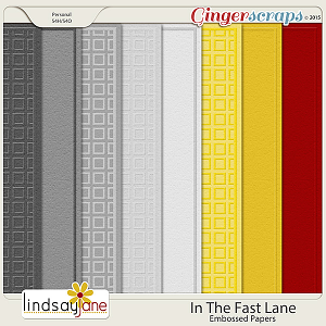 In The Fast Lane Embossed Papers by Lindsay Jane
