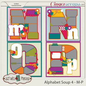 Alphabet Soup Template Pack 4 - M-P