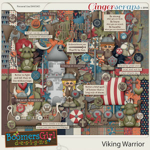Viking Warrior by BoomersGirl Designs