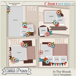 In The Woods - 12x12 Templates (CU Ok)