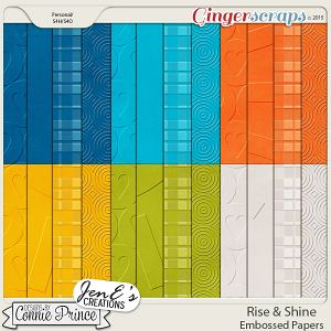 Rise & Shine - Embossed Papers