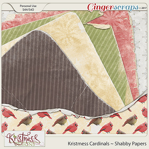 Kristmess Cardinals Shabby Papers