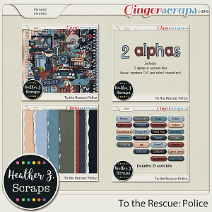 To the Rescue: Police BUNDLE by Heather Z Scraps