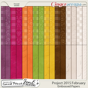 Project 2015 February - Embossed Papers
