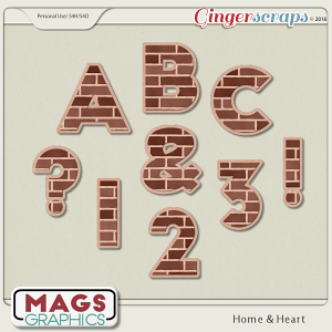 Home & Heart ALPHA by MagsGraphics