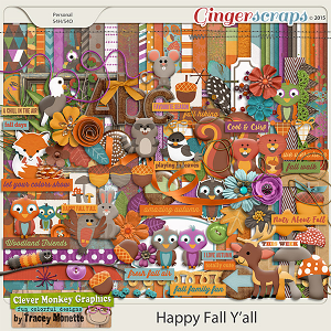 Happy Fall Y'all by Clever Monkey Graphics