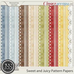 Sweet And Juicy Pattern Papers