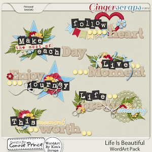 Life Is Beautiful - WordArt: by Connie Prince