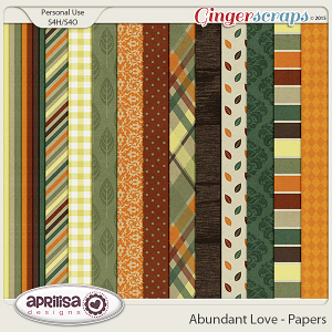 Abundant Love - Papers by Aprilisa Designs