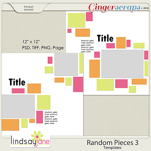 Random Pieces 3 Templates by Lindsay Jane