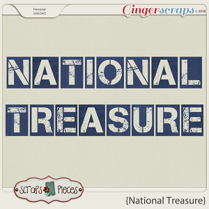 National Treasure Alpha by Scraps N Pieces