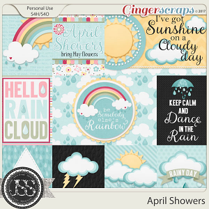 April Showers Pocket Scrap Cards