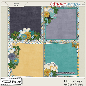 Happy Days - PreDeco Papers