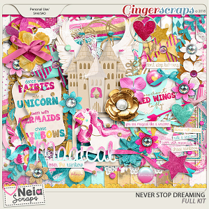 Never Stop Dreaming- Full Kit - by Neia Scraps