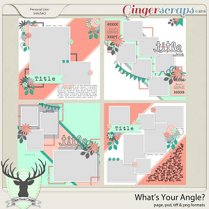 What's Your Angle? Template Pack by Dear Friends Designs